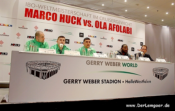 Boxnacht um den WM-Gürtel - Huck vs. Afolabi