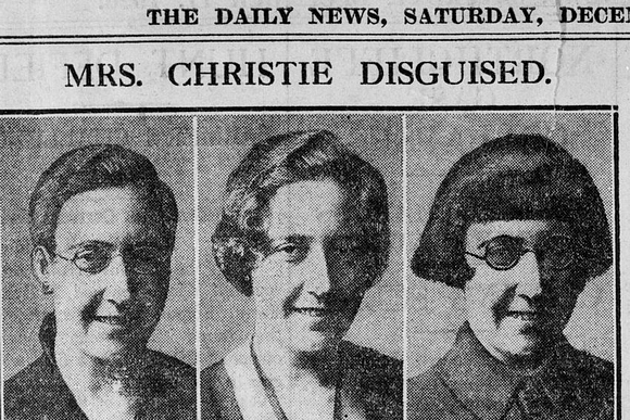 11th December 1926: Photographs in The Daily News of detective writer Agatha Christie (1890 - 1976) showing how she may have disguised herself after her disappearance. (Photo by Hulton Archive/Getty Images)